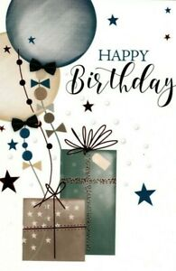 Open Male Birthday Card ~ Happy Birthday By Simon Elvin ~ Free P&P