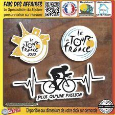 3 Stickers autocollant le tour de france 2020 course velo plus qu'une passion