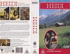 HEIDI BBC  VHS PAL VIDEO~ A VERY RARE FIND