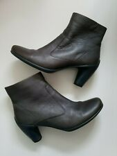 Ecco Womens Ankle Booties Boots Heels Zipped  Size 41 EU/ 10-10.5 US