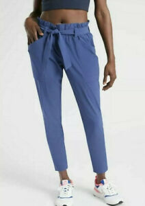 Athleta SZ 2 XS Skyline Paperbag Ankle Jogger Pant Feather Weight In Rare Blue!