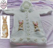 Easter bunny baby sleeping bag knitting pattern,chunky wool.