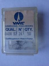 VMC quality fish hooks 8406 bronze size 24 box of 50 spade end
