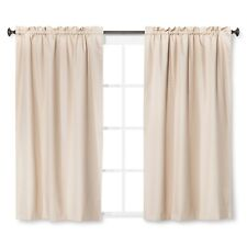"Eclipse Braxton Thermaback Light Blocking (1) Curtain Panel Khaki 42"" x 63"""