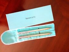 AUTHENTIC TIFFANY & CO COMPANY  SILVER PLATED PEN AND PENCIL SET