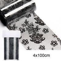 Nail Foils Black Lace Flower Series Nail Art Transfer Stickers Decals Decoration