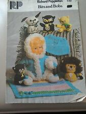 Vintage patterns and booklets dolls knit toys tea cosy cushions helmets leggings