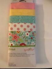 """cricut fabric sampler 5 pack 12 x 26"""" pieces garden girll"""