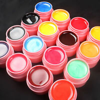 16 PCS Mix Colors Pearl UV Builder Gel Acrylic Nail Art Sets for Nail Tips Pink