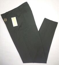 NWT MICHAEL KORS Womens Skinny Ankle Casual Stretch Pants Forest Green Olive 6