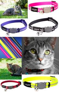 Cat Collars With Bell ROGZ ALLEYCAT Reflective Quick Release Breakaway Collars