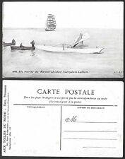 Old Aviation Postcard - France, Airplane Wreck - Latham - Harpon Ship