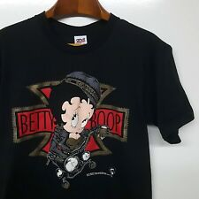 Vintage Betty Boop Harley Davidson Motorcycle T-Shirt 1992 Made in USA Anvil XL