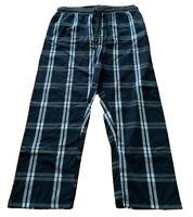 Mens  plus size 5XL MR BIG Poplin NAVY CHECK Cotton pyjama pj pants  NEW Target