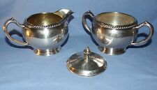 Vintage Oneida Silverplate Hollowware Creamer and Sugar Bowl w/ Lid - Fiesta