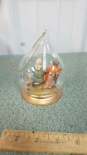 Vtg 1992 Fontanini Nativity Glass Bubble Ornament Roman Flight Into Egypt