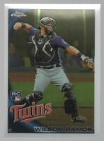 2010 TOPPS CHROME #189 WILSON RAMOS – ROOKIE CARD – NM-MT (8)