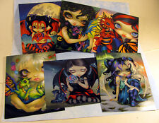 Jasmine Becket-Griffith art fairy ruby moon frost Dragonling Set of 6 Postcards