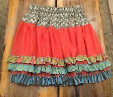 Matilda Jane Secret Fields Twirling Tulle Ruffle Skirt Size 14