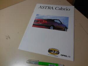 OPEL ASTRA CABRIO Japanese Brochure 1994/07 XD200K C20