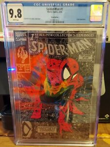 SPIDER-MAN #1 CGC 9.8 SILVER EDITION LIZARD APPEARANCE