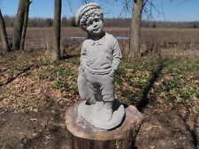 """Cement 16"""" Tall Golfer Golf Caddy Garden Art Statue Concrete  Fore!!!"""