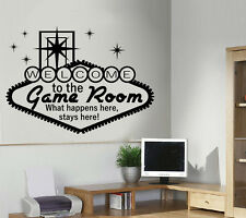 Gaming Room Wall Art Door Sticker/Decal
