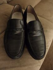 Black BALLY Leather Classic Loafers Shoes size 12 US  made in Italy