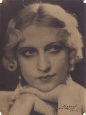 Portrait d'une belle parisienne par Arnal Paris Vintage Argentique ca 1930