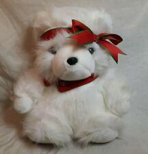 "1987 DAYTON HUDSON 15"" Christmas Teddy Bear Plush Stuffed Animal Toy NICE"