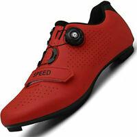 New Speed Road Cycling Shoes Men Spd Spin Cleats MTB Bike Sneaker Racing Peloton