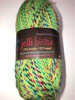 #2335 Green Plymouth Jelli Beenz Yarn  Knit Crochet 100 grams 214 Yards