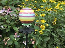 New listing Mackenzie Childs Striped Garden Ball and Garden Stake