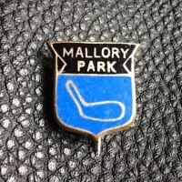 VINTAGE 60S MALLORY PARK MOTORCYCLES SILVER BLUE MOTORBIKE ENAMEL PIN BADGE