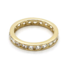 14K Yellow Gold Channel-Set Band Toe Ring Size 4 1/2 with 25 Round Cz