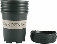 New! 5Pcs 1 Gallon Nursery Pot with Pallet, Suit for Indoor and Outdoor Planting