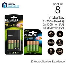 Duracell CEF14 Charger (Including  2x1300 2x750) + 4 x 2500mAh AA Recharegeable