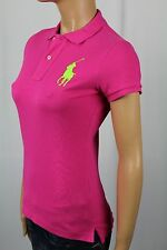 Ralph Lauren Pink Big Pony Rugby Polo Shirt NWT X-Small XS
