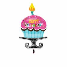 S/Forma: Bday cospargere Cupcake Foil Balloon - 22/55cm W X 37/93cm H