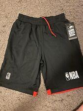 NBA National Basketball Association Black Red Mesh Shorts Boys Youth M (10-12)