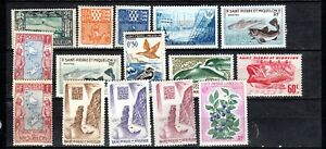 CLASSIC OLD MNH-H STAMPS (15) FROM ST-PIERRE-ET-MIQUELON NEAR NFLD, CANADA