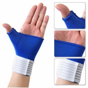 Wrist Support Brace Palm Hand Strap Compression Wrap Gloves Bandage Thumb YO