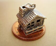 BEAUTIFUL  STERLING SILVER '  MOUNTAIN SWISS CHALET  '  OPENING CHARM CHARMS