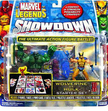"Marvel Comics Universe scale SHOWDOWN  WOLVERINE v HULK 3.75"" figures toy RARE"