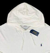 Men's POLO RALPH LAUREN White Hooded Lightweight Knit Shirt 3XB 3X 3XL NWT NEW
