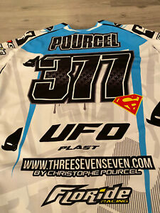 Maglia CHRISTOPHE POURCEL 377 Supercross BERCY racer jersey t-shirt
