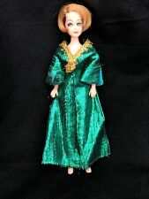 Vintage Topper Dawn Doll LOT #18: JESSICA ? In GREEN SLINK Outfit 0716