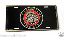 Devil Dogs US Marine Corps USMC Marines Embossed License Plate 6 x 12 inches