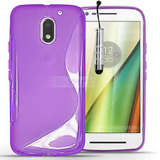 For Motorola Moto Mobile Phones - S Line Soft Silicone Gel Case Clear Cover