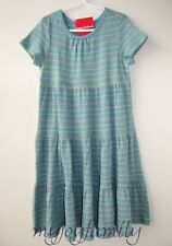 HANNA ANDERSSON Girl Love Twirl Pima Cotton Dress Discovery Blue 140 10 NWT